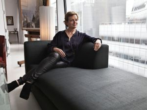 Ms. Champalimaud looks over the water from her apartment. (Photo: Celeste Sloman/New York Observer)