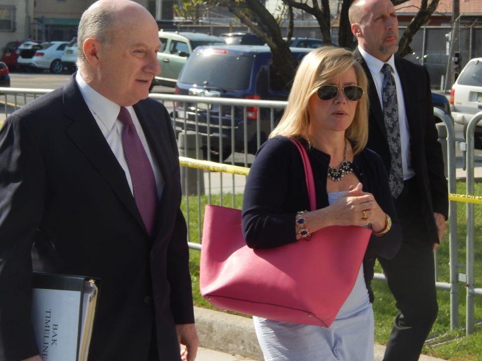 BRIDGEGATE: Kelly arrives at the federal courthouse in Newark