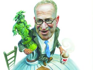 Sen. Charles Schumer. (Illustration: Fred Harper/New York Observer