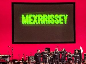Mexrissey takes a bow after playing at their only New York venue, the Brooklyn Academy of Music, on Sunday, May 10. (Photo: @yebo_music via Twitter)
