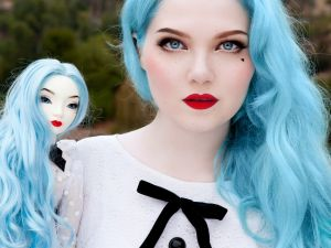 "The image Doe Deere took with her Pidgin Doll that Prince ""appropriated"" - Los Angeles, CA PHOTO CREDIT: Doe Deere"