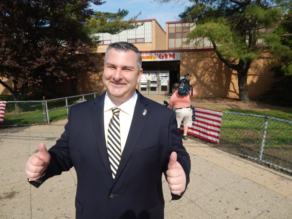 E-day in North Bergen begins with Wainstein casting vote