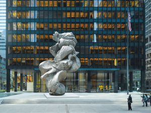 Urs Fischer, Big Clay #4, on view at the Seagram Building through September 1. (Photo: Gagosian Gallery)