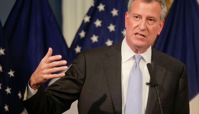 NYC Mayor Bill de Blasio