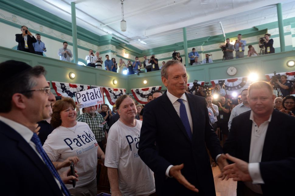 Pataki Launches Longshot Presidential Bid to 'Preserve and Protect' Freedom