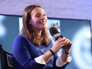 LONDON, ENGLAND - JANUARY 24: Ella Mills, author and creator of Deliciously Ella, speaks live at BUILD Series on January 24, 2017 in London, United Kingdom. (Photo by Tabatha Fireman/Getty Images)