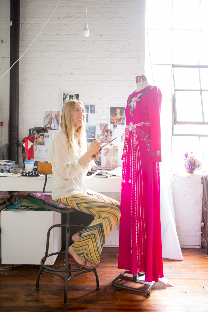 Holly Fowler's Hand-Painted Dresses Are High Fashion News