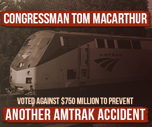 DCCC launching digital ads attacking MacArthur's Amtrak vote