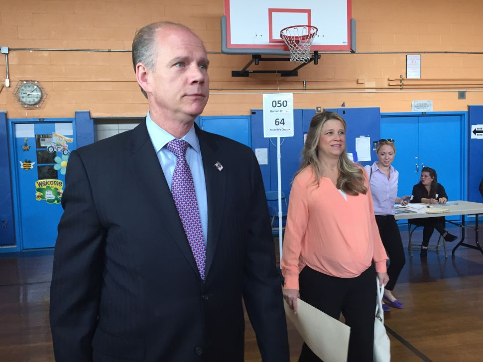 Daniel Donovan Casts His Vote in Special Election for Congress