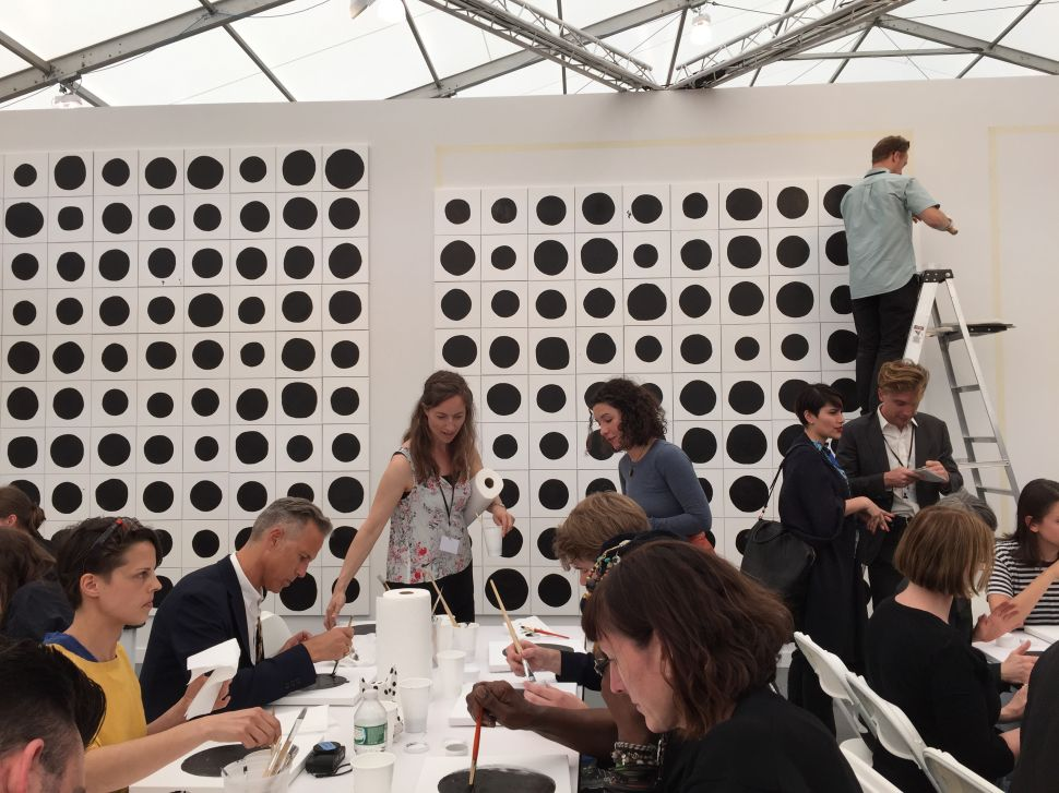I Was Hired to Paint Dots at Frieze New York for $20
