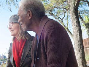 Diane Keaton and Morgan Freeman in 5 Flights Up.