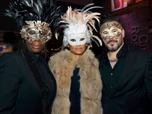 Artist Mickalene Thomas and guests at MoCADA's inaugural Masquerade Gala on Thursday night. (Photo: MoCADA)