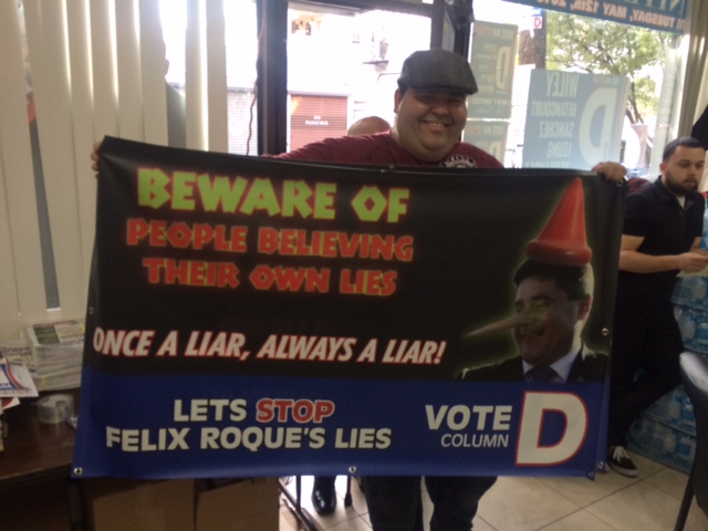West New York mayor's race: Munoz shows up at Wiley HQ, ready to hit the streets