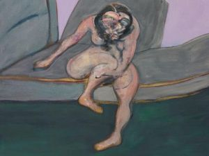 Francis Bacon's Seated Woman (1961) hammers at $25 million, and totaled $28.2 million with the buyer's premium at Phillips Contemporary Art Evening Sale on Thursday, May 14. (Photo: Phillips)