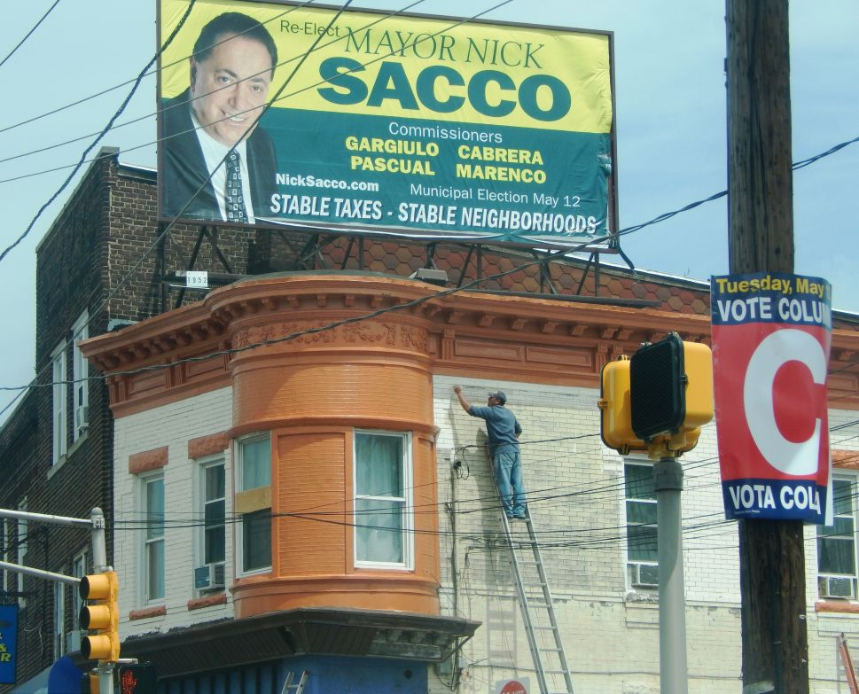 Sweltering sign war dominates the late afternoon in North Bergen