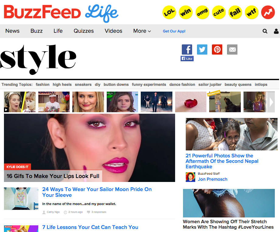 New BuzzFeed Hires Will Cover Multicultural Beauty, Plus-Size Style