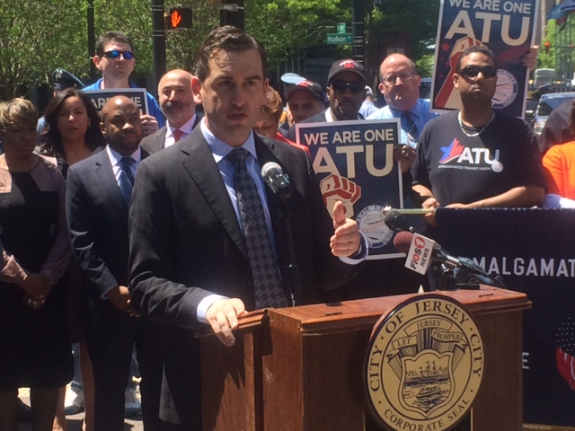 Fulop, backed by pols and union leaders, denounces proposed NJ Transit fare hike, slams Christie