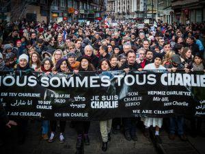 Protest after Charlie Hebdo massacre (Wikimedia).
