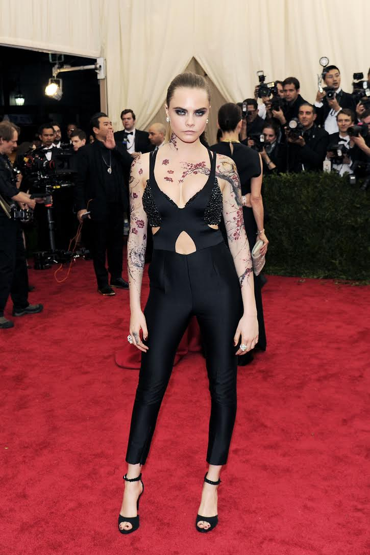 Celebrity Inkmaster Transforms Cara Delevingne Into Asian-Inspired Canvas At Met Gala
