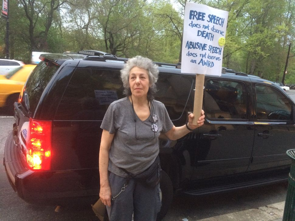 Lone Protester Vicki Rovere Opposes PEN's Decision To Honor Charlie Hebdo