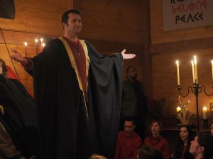"""THE FOLLOWING: Joe Carroll (James Purefoy, L) leads a cult in the """"Unmasked"""" episode of THE FOLLOWING airing Monday, March 17 (9:00-10:00 PM ET/PT) on FOX. ©2014 Fox Broadcasting Co. CR: Sarah Shatz/FOX"""