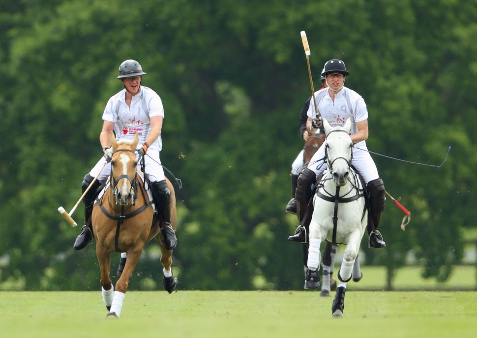 Prince William Takes Break From Parenting to Play Polo With Harry