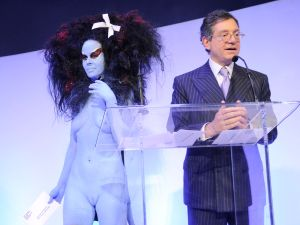Kembra Pfahler, Jeffrey Deitch at Rob Pruitt Presents © Patrick McMullan== Photo- BILLY FARRELL/PatrickMcMullan.com== ==