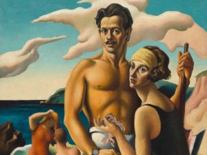 Thomas Hart Benton, Self Portrait With Rita, about 1924. (Photo: National Portrait Gallery, Smithsonian Institution/Art Resource, NY. © Benton Testamentary Trusts/UMB Bank Trustee/Licensed by VAGA, New York, NY)