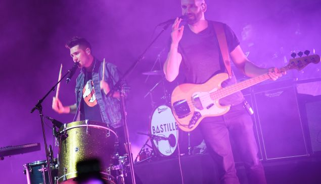 Bastille performing at the Mercedes-Benz Evolution Tour in New York City (Photo: Getty).