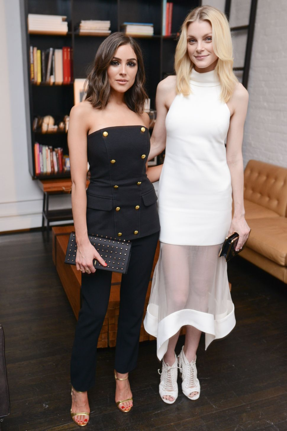 Jessica Stam and Olivia Culpo Perfect the Art of Dressing for a Dinner Party