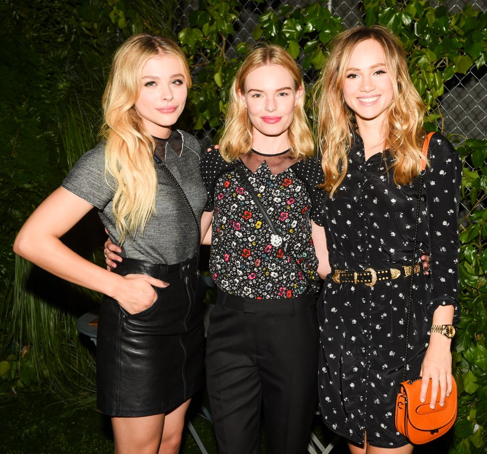 Kate Bosworth, Chloe Moretz, Suki Waterhouse, and Kiernan Shipka Party at the Coach High Line Bash