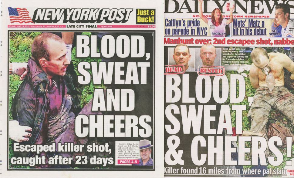Both New York Tabloids Used the Same Pun on Their Front Pages Today