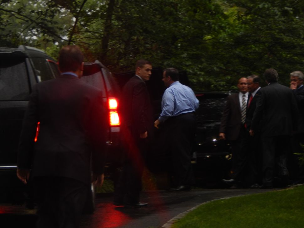 All quiet on rainy Westfield front as Christie attends GOP Assembly fundraiser
