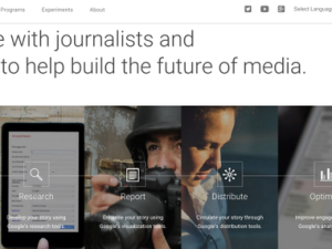 Google News Lab attempts to meld journalism and technology to create a new resource for journalists. (Photo: Twitter)