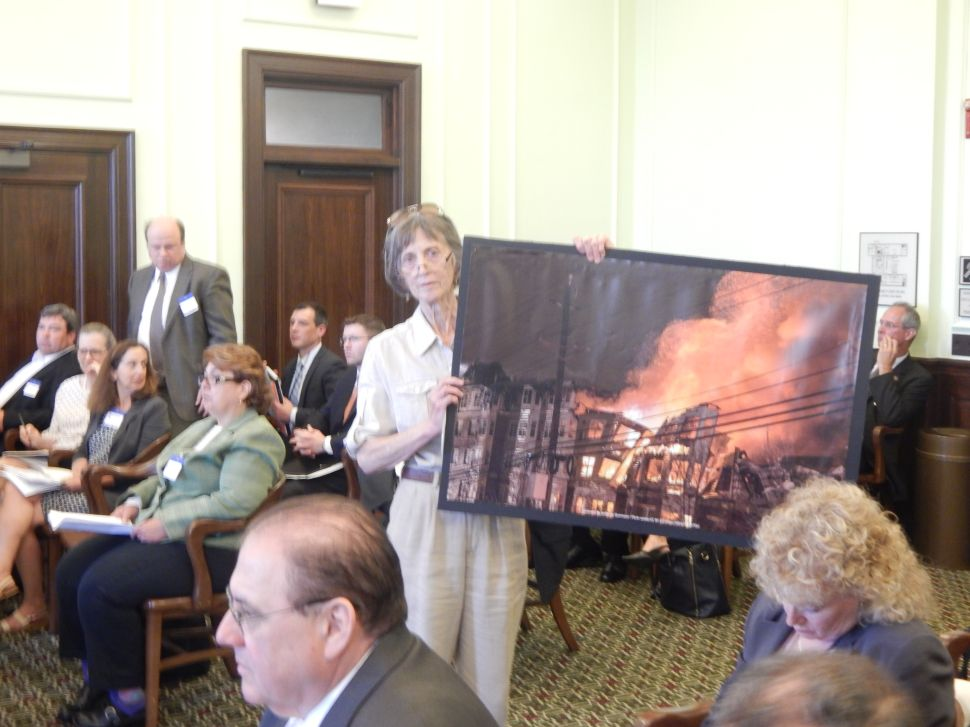 In aftermath of Edgewater fire, construction code legislation considered by Senate committee