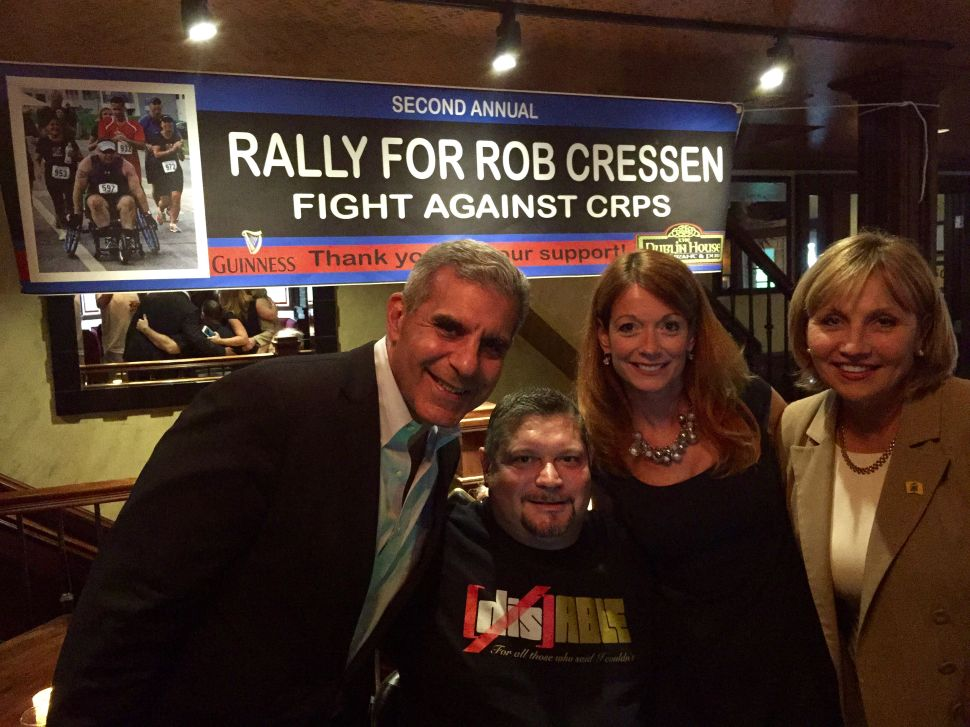 Cressen rally included Guadagno, Kyrillos, and many others, at the Dublin House