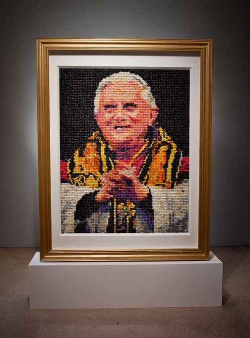 US Museum Acquires Portait of Pope Benedict XVI (Made of Condoms), Sparks Outrage