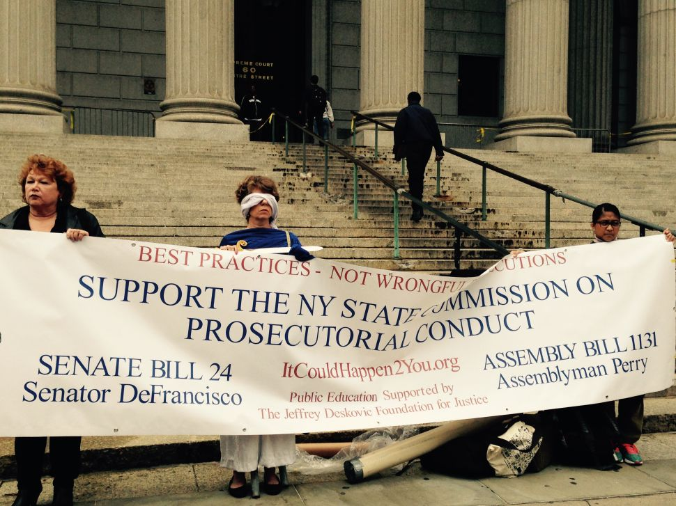 Supporters Rally for State Commission on Prosecutorial Conduct Bill
