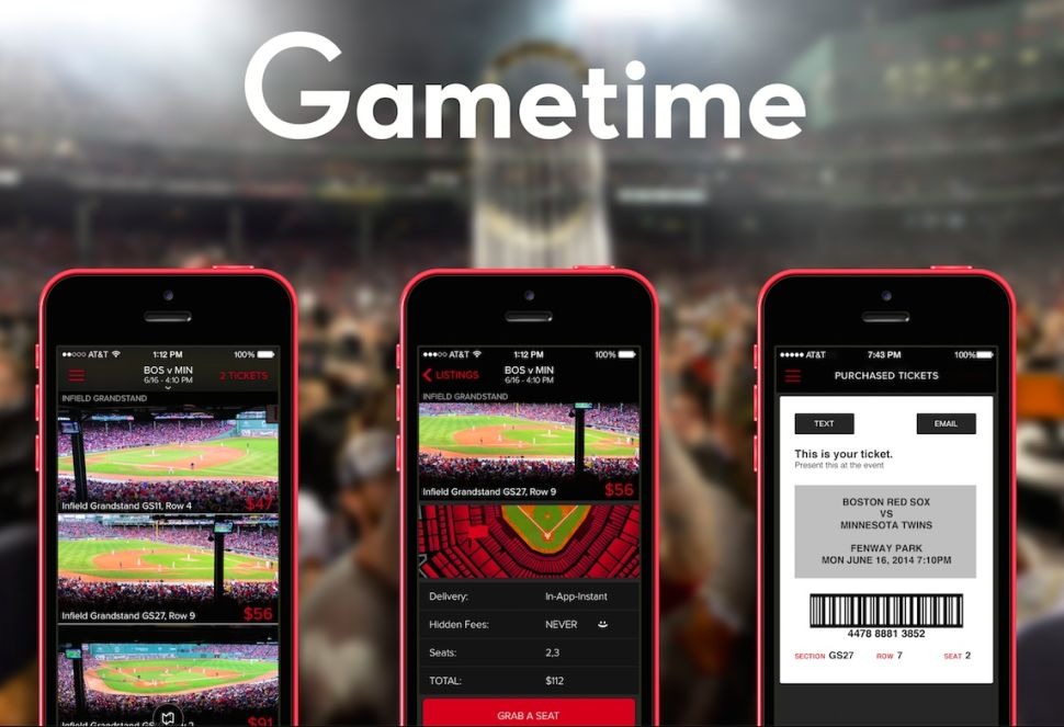 Gametime: Making it easy to catch live sports on a whim.