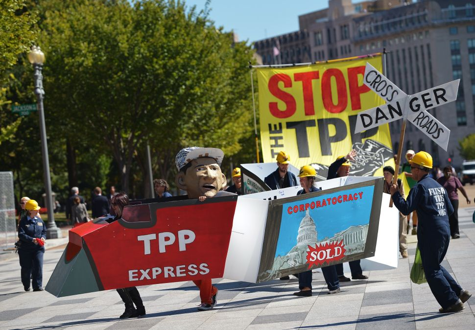 Bipartisan Agreement: Foreign Governments Pay Former Senate Leaders to Sell TPP