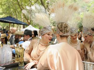 The Dreamland Follies attend the 9th Annual Jazz Age Lawn Party on Governor's Island. (Photo: Getty Images)