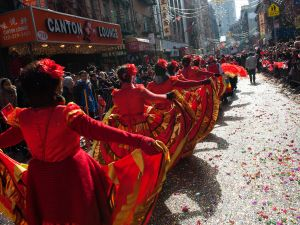 A Lunar New Year parade in Chinatown. (Photo: Getty Images)