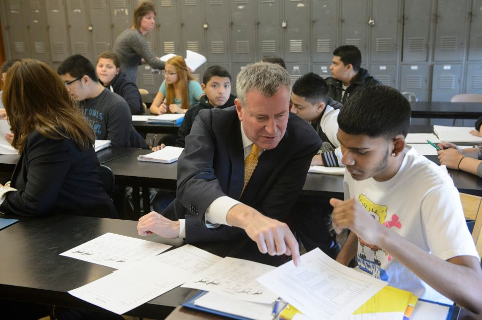 De Blasio Asks for at Least 7 Years of Mayoral Control of City Schools