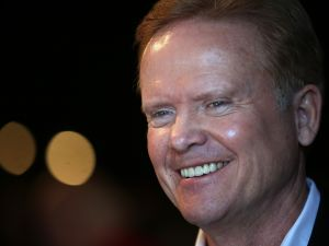 MASON CITY, IA - APRIL 12: Former U.S. Sen. Jim Webb (D-VA) looks on during a fundraiser for Iowa House Democrats representatives Todd Prichard and Sharon Steckman at CHOP Restaurant on April 12, 2015 in Mason City, Iowa. Former Sen. Webb is considering a run for president in 2016. (Photo by Justin Sullivan/Getty Images)