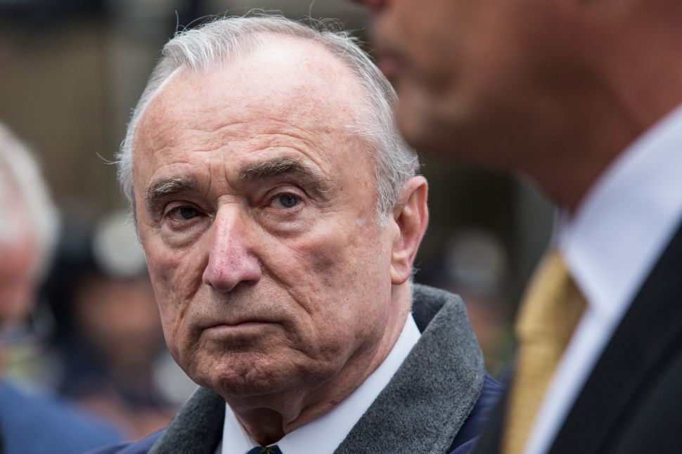Bill Bratton Resigning as NYPD Commissioner