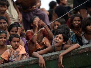 Rohingya migrants in the Andaman sea on May 14, 2015. (Photo Christophe Archambault/AFP/Getty)
