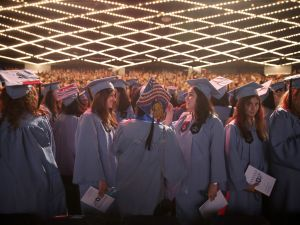 NEW YORK, NY - MAY 17: Members of the Barnard College Class of 2015 line up during the 123rd Commencement of Barnard College at The Theater at Madison Square Garden on May 17, 2015 in New York City. (Photo by Jemal Countess/Getty Images)