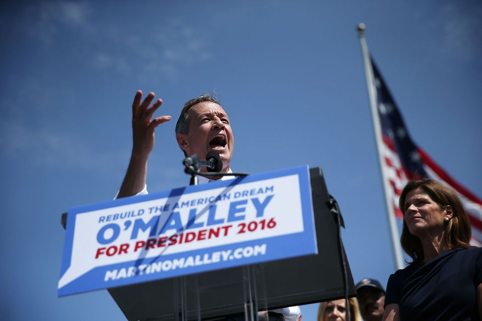 Why Martin O'Malley's Camp Thinks the Bernie Sanders Surge Will Help Him