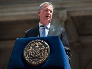 Mayor Bill de Blasio.(Photo: Andrew Burton/Getty Images)