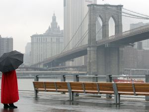 This view of the iconic Brooklyn Bridge may change a little once Pierhouse is built. (Mario Tama/Getty Images)